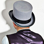 Шляпа CHRISTYS арт. FASHION TOP HAT cwf100006 (серый)